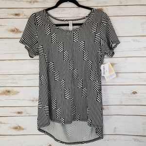 Lularoe classic t size small black and white